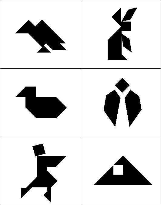 Tangram Puzzle Patterns Plans DIY Free Download boxes with hidden – Tangram Puzzles Worksheets