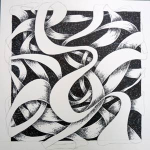 Ribbon design  Cross-hatching technique  Art lesson