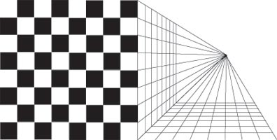 grid in perspective