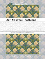 coloring art nouveau patterns